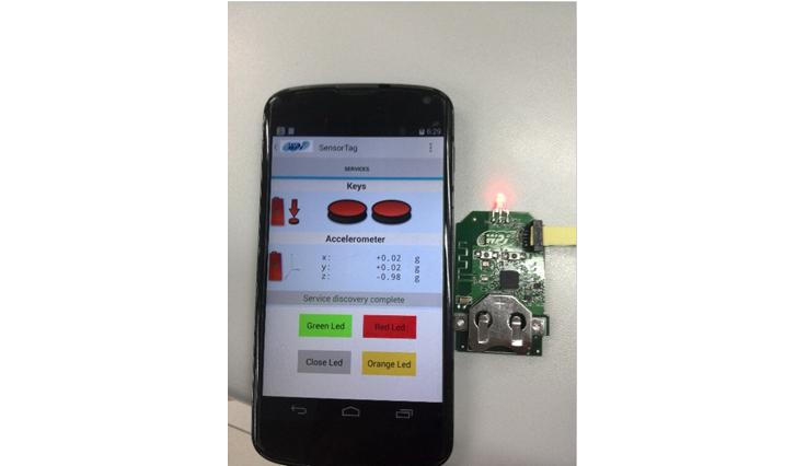 Nexus4 通過 BLE 控制 CC2541上 LED 亮和滅