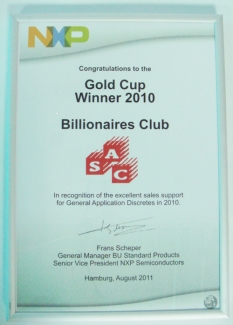 Gold Cup Winner 2010 – Billionaires Club