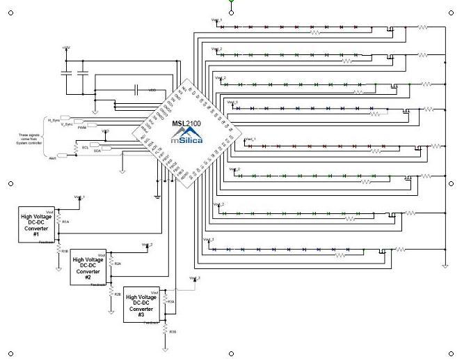 msilica力推整合高电流8并联的串行led 驱动器_msl2100