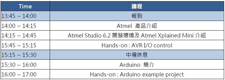 Atmel-MCU-Arduino-Agenda
