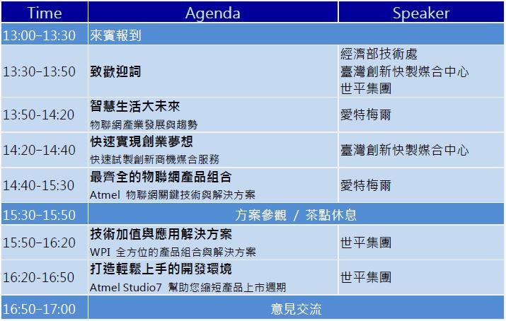 WPI-Atmel-IoT-Seminar-20151208-Agenda
