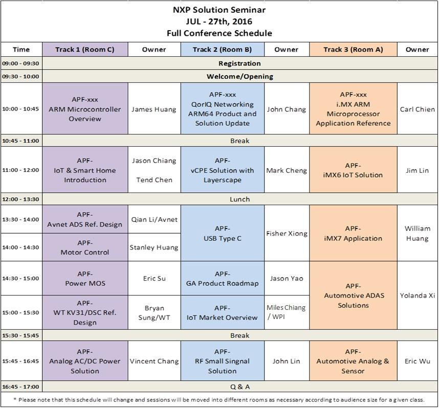 NXP_Smart World Tour_0727_TPE_agenda