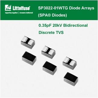 Littelfuse - SP3022 Series Diode Arrays , 0.35pF 20kV Bidirectional Discrete TVS