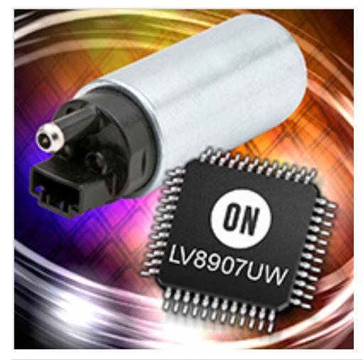 整合门极驱动器的无传感器三相无刷直流马达控制器 LV8907