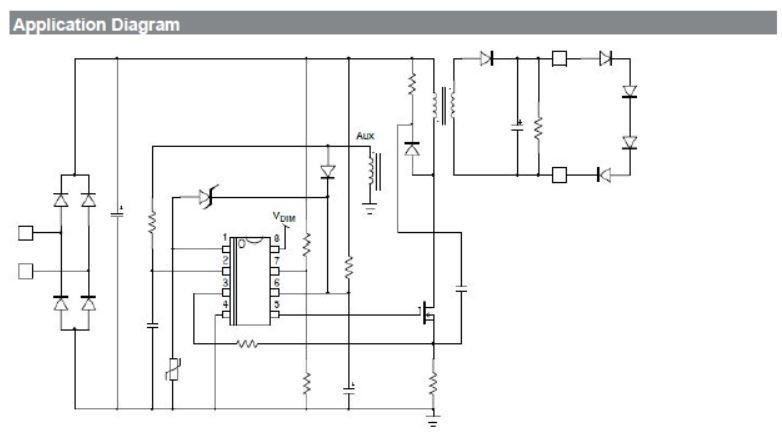 可调光的准谐振初级端电流模式控制器用于LED照明 NCL30082