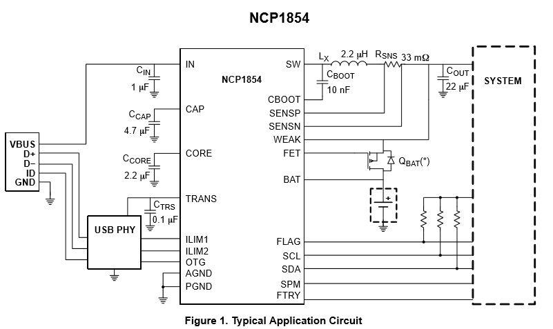2.5 A開關電池充電器 NCP1854