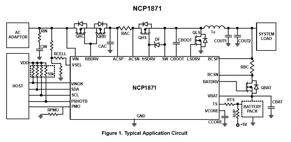 開關電池充電器 NCP1871