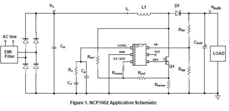 增强型高能效功率因子控制器 NCP1602