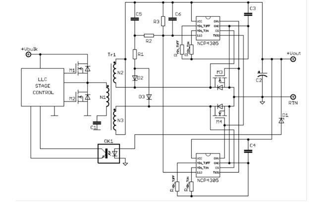 次級端同步整流驅動器, 用於高能效交換式電源供應器(SMPS) NCP4305