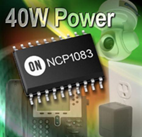 40 W集成PoE-PD和DC-DC轉換器控制器 (支持輔助電源) NCP1083