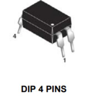 FOD819 光電晶體管光電耦合器,高速,4引腳DIP