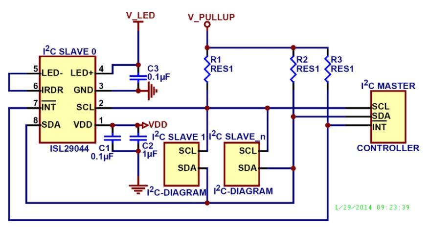 INTERSIL  低功耗環境光源偵測及距離傳感器 ISL29044A