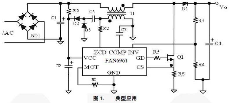 CrCM PFC 控制器 FAN6961