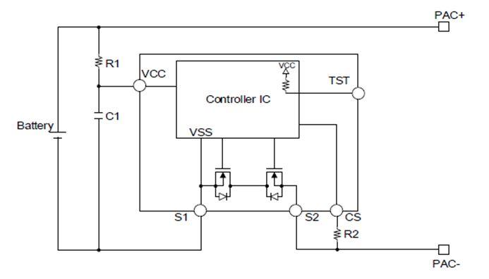 整合功率MOSFET的单节锂电池保护IC LC05711