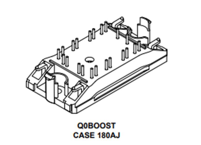 功率集成模組,SiC二極管+ IGBT,1200 V,40 A NXH80B120H2Q0SG