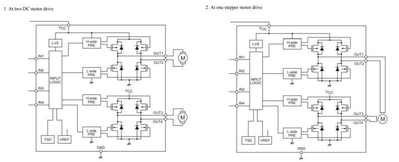 電機驅動器,正向/反向,低飽和電壓,12 V LV8548MC