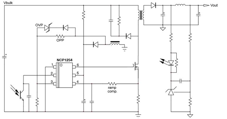NCP1254/ NCP1255 帶峰值功率擴充功能的固定頻率電流模式控制器