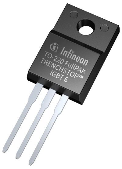英飞凌650 V TRENCHSTOP IGBT6 的主要特色包括极低的 VCE(sat) 与 Vf,以及 3 μsec 的短路保护能力,并针对 5 kHz 至 30 kHz 范围内的切换频率进行最佳化,适用于需要有效控制 EMI 噪声的应用。