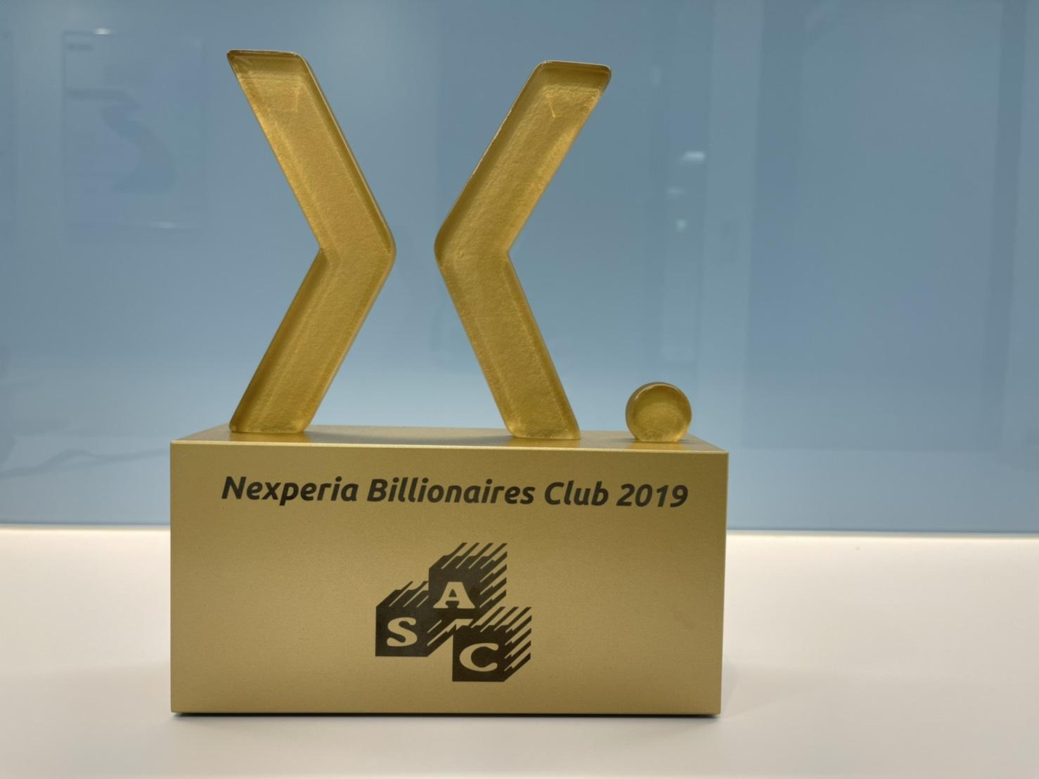 Nexperia Billionaires Club 2019