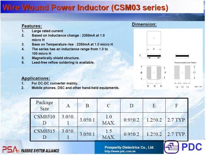 PDC-CSM0310D