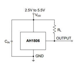 DIODES Hall Sensor AH1806