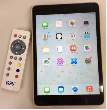 可以實現對帶藍牙功能的主機設備(iPad)的控制